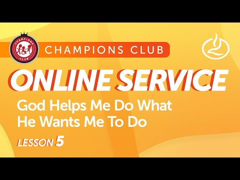 God Helps Me Do What He Wants Me To Do  Champions Club  Lakewood Church