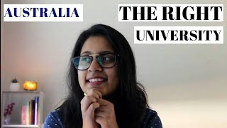 HOW TO CHOOSE THE RIGHT UNIVERSITY IN AUSTRALIA-2019