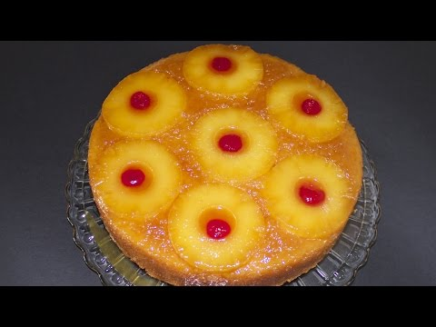 Pineapple Honey Upside Down Cake - A Collaboration with CookingAndCrafting! - UCpvKVW5pLRIJhT1vZFPZiFQ