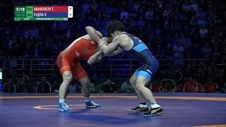 Round 2 FS - 61 kg: Z. ABAKAROV (RUS) v. Y. FUJITA (JPN)