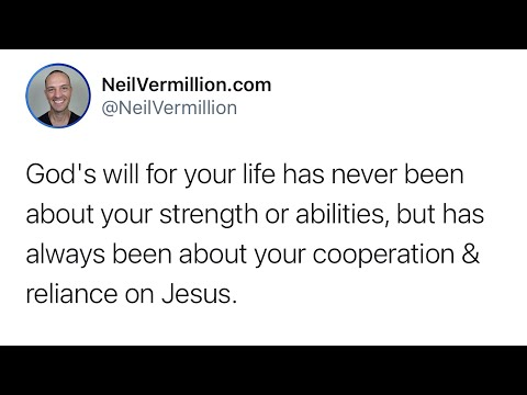 Your Reliance On Me - Daily Prophetic Word