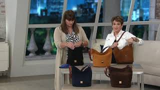 Dooney & Bourke Suede Feed Bag - Thea on QVC