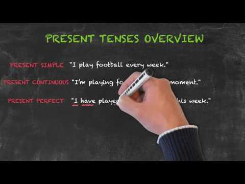 Overview of All English Tenses - Present Tenses Overview - Present Continuous