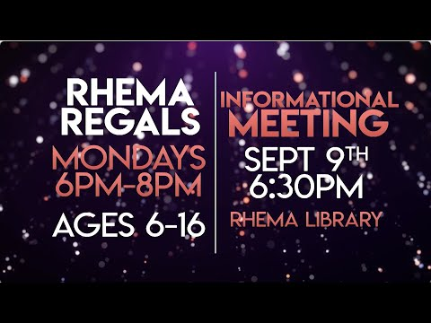 Rhema Video Announcements 09.08.19
