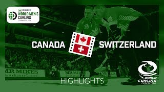 HIGHLIGHTS: Canada v Switzerland - Pioneer Hi-Bred World Men's Curling Championship 2019