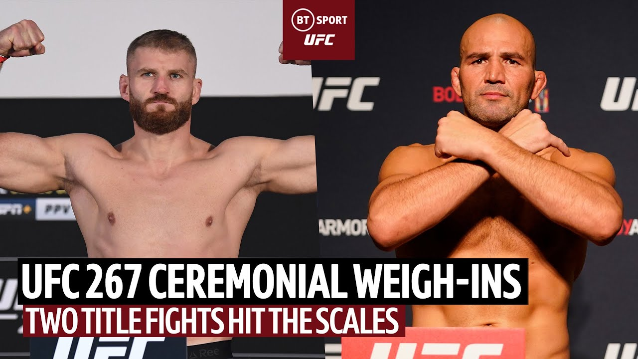 UFC 267 Ceremonial Weigh-Ins: Two title fights hit the scales!