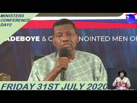 PASTOR E.A ADEBOYE TEACHING  DAY 2 RCCG MINISTERS CONFERENCE
