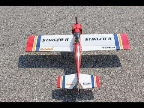 Great Planes Stinger II RC Airplane With OS Max 46 AX Motor Review and Flight. - UCguLtv7WI_rTVjxQAKEntzw