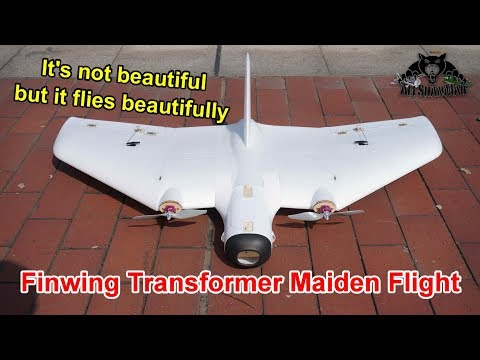 Finwing Transformer Long Range FPV Flying Wing Maiden Flight Testing - UCWE_TyjBJPbGql1Diwmqg1Q