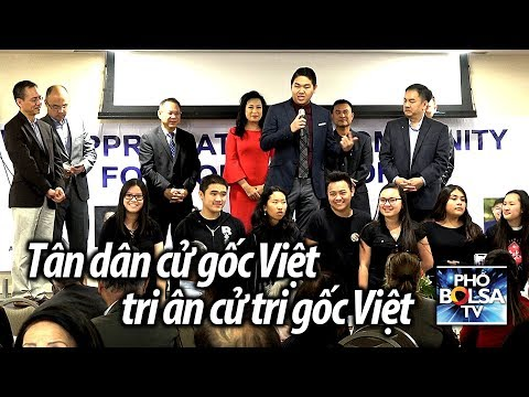 Tân dân cử gốc Việt họp mặt gặp gỡ, tri ân cử tri gốc Việt quận Cam
