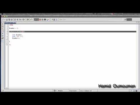 دورة  PHP : الدرس 9 ( الحلقات التكرارية While )