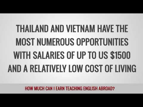 How much can I earn teaching English abroad?