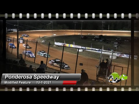 Ponderosa Speedway - Modified Feature - 10/1/2021 - dirt track racing video image