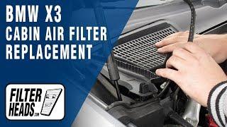 Cambiare filtro aria abitacolo Bmw X3