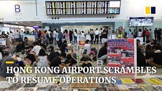 Hong Kong airport scrambles to resume operations