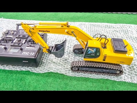 RC excavator gets unboxed and dirty for the first time! - default