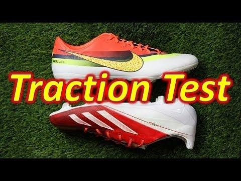 Nike CR7 Mercurial Vapor 9 VS Adidas Messi F50 adizero miCoach 2 - Traction Test - UCUU3lMXc6iDrQw4eZen8COQ
