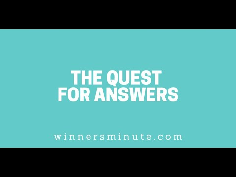 The Quest for Answers // The Winner's Minute With Mac Hammond