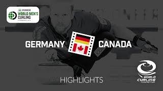 HIGHLIGHTS: Germany v Canada - round robin - Pioneer Hi-Bred World Men's Curling Championship 2019