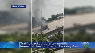 Vehicle Fire Temporary Closed Parkway East