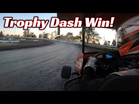 Tanner Holmes TROPHY DASH WIN at Cycleland Speedway! - dirt track racing video image