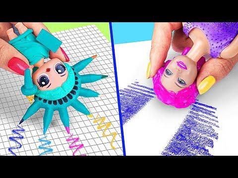 9 Weird Ways To Sneak Barbie Dolls Into Class / Clever Barbie Hacks And LOL Surprise Hacks - UCWwqHwqLSrdWMgp5DZG5Dzg