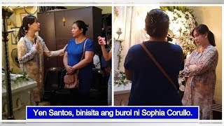 Yen Santos visits Sophia Corullo's wake; comforts her grieving family