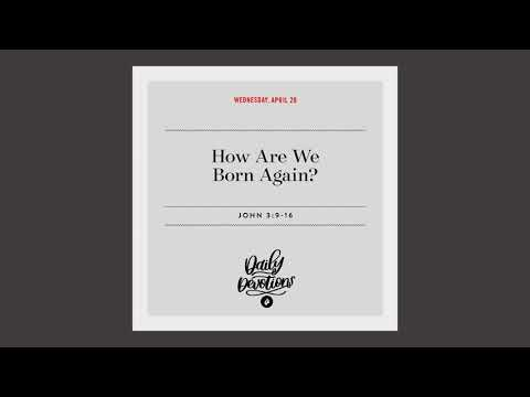 How Are We Born Again?  Daily Devotional
