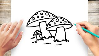 How to Draw Poisonous Mushroom