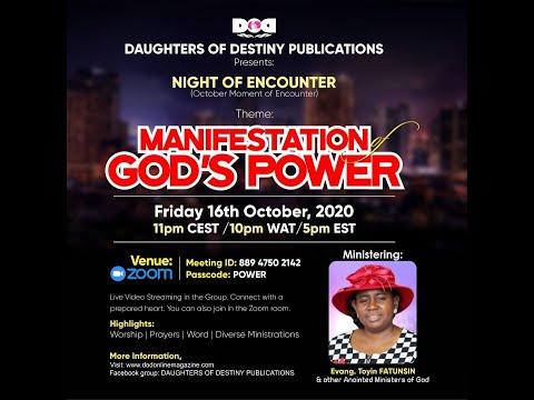 MANIFESTATION OF GOD'S POWER