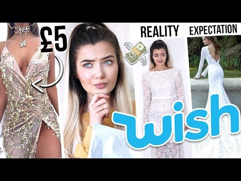TRYING ON WISH PROM DRESSES UNDER £10! ARE YOU SERIOUS!? - UCBKFH7bU2ebvO68FtuGjyyw