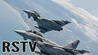 Los RAF Typhoons Salen de Escocia para Interceptar a los Bombarderos Rusos en Europa.