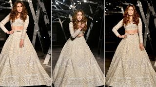 Gorgeous Sara Ali Khan WALKS The Ramp At India Couture Week 2019