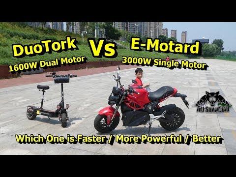 DuoTork Electric Scooter Vs Little Monster Electric Motorcycle - UCsFctXdFnbeoKpLefdEloEQ