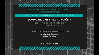 Sociología del transporte en Bolivia (Adolfo García)