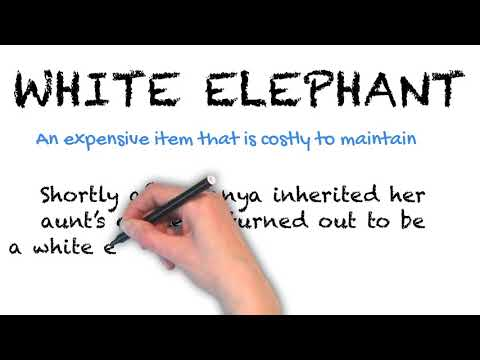 White Elephant - English Idioms