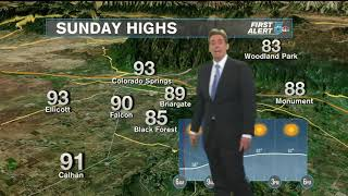 Quiet weather with possible record heat
