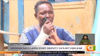 Woman accuses police officer of assault
