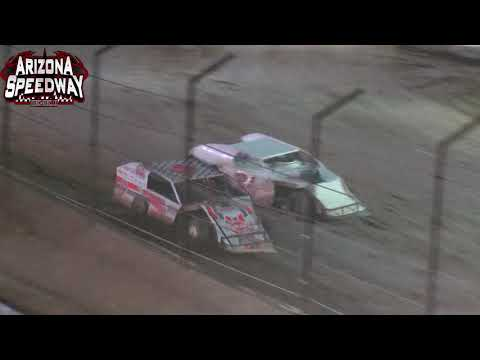Arizona Speedway  IMCA Modified Main    8 28 21 - dirt track racing video image