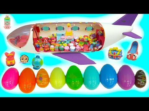 World Vacation Season 8 Shopkins Inside Surprise Eggs Board Airplane - Toy Video - UCelMeixAOTs2OQAAi9wU8-g