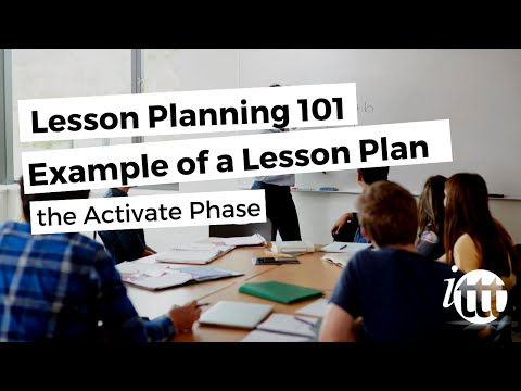Lesson Planning - Part 7 - Lesson Plan Example - Activate Phase
