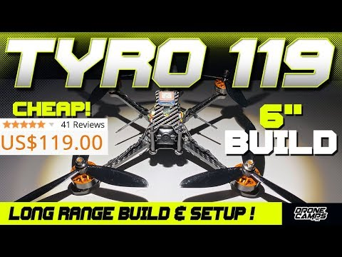 $119 Long Range Fpv Quad! - Eachine TYRO119 - Build, Setup, & Betaflight - UCwojJxGQ0SNeVV09mKlnonA