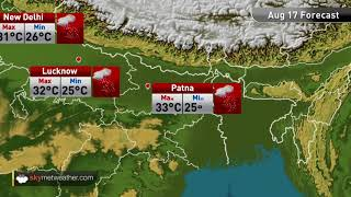 Maximums and minimums for major cities of India on August 17th | Skymet Weather