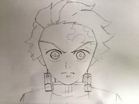 How to draw Tanjiro