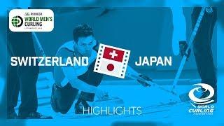 HIGHLIGHTS: Switzerland v Japan - Pioneer Hi-Bred World Men's Curling Championship 2019