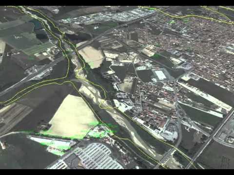 Rappresentazione 3D della Geologia superficiale della Bassa Val Di Chienti