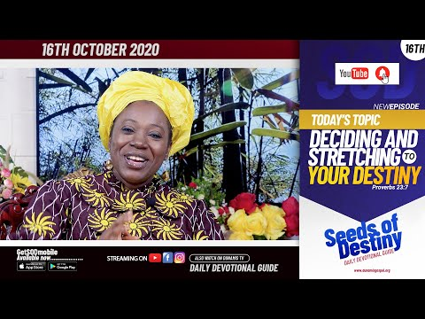 Dr Becky Paul-Enenche - SEEDS OF DESTINY - FRIDAY OCTOBER 16, 2020