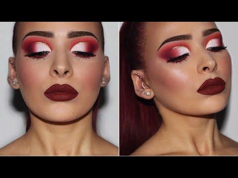 Cranberry Red Half Cut Crease | Makeup Tutorial - UCIUU3PJrzLBocsGPkFtQzFA