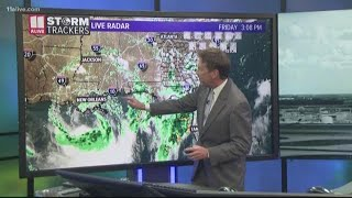 Tropical Storm Barry gets closer to the Gulf