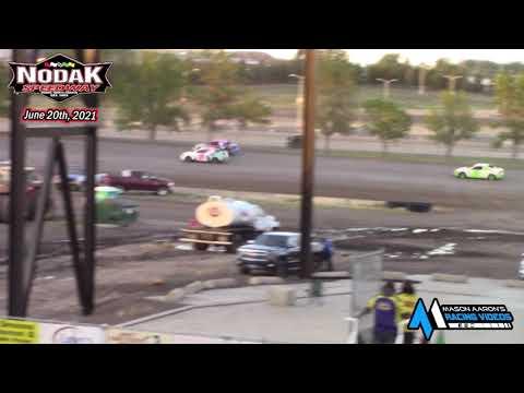 Nodak Speedway IMCA Sport Compact Races (6/20/21) - dirt track racing video image